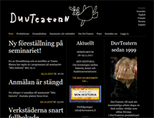 Tablet Preview of duvteatern.fi